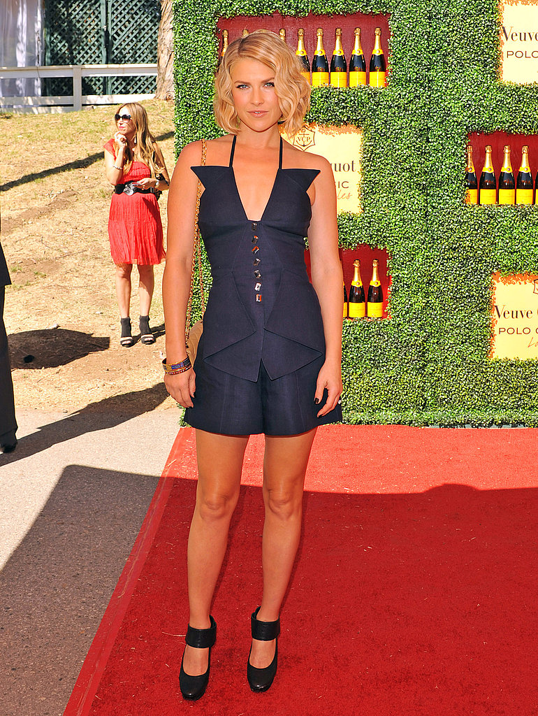 Ali Larter showed off her new short 'do at the Veuve Clicquot Polo Classic.