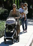 Jessica Alba and Cash Warren with Honor and Haven at an LA park.
