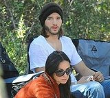 Ashton and Demi went camping together.
