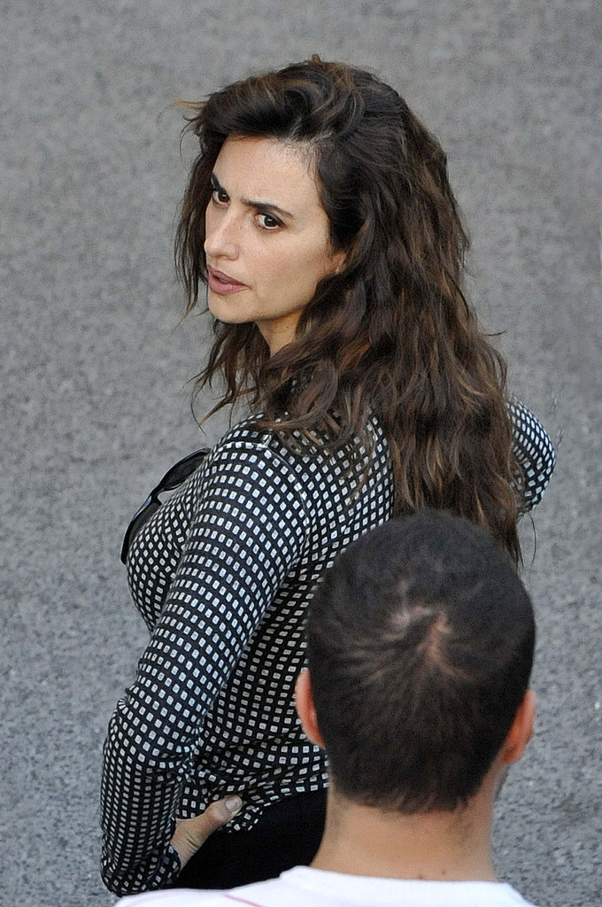 Penelope Cruz was on the set of Venuto al Mondo in Rome.