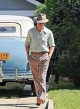 Ryan Gosling on set for The Gangster Squad in LA.