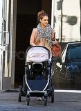 Jessica Alba runs errands with Haven.
