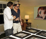 Jordi Molla gave Johnny Depp a tour around the work on display at the Chateau Marmont.