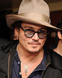 Johnny Depp at the Chateau Marmont.
