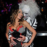 Audrina Patridge shared some PDA with her then-boyfriend at the Vegas Halloween party she hosted in 2010.