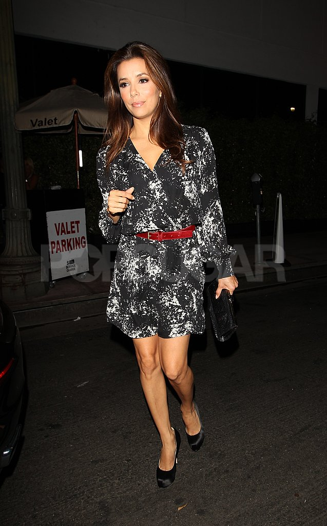 Eva Longoria checked up on her restaurant, Beso, in LA.
