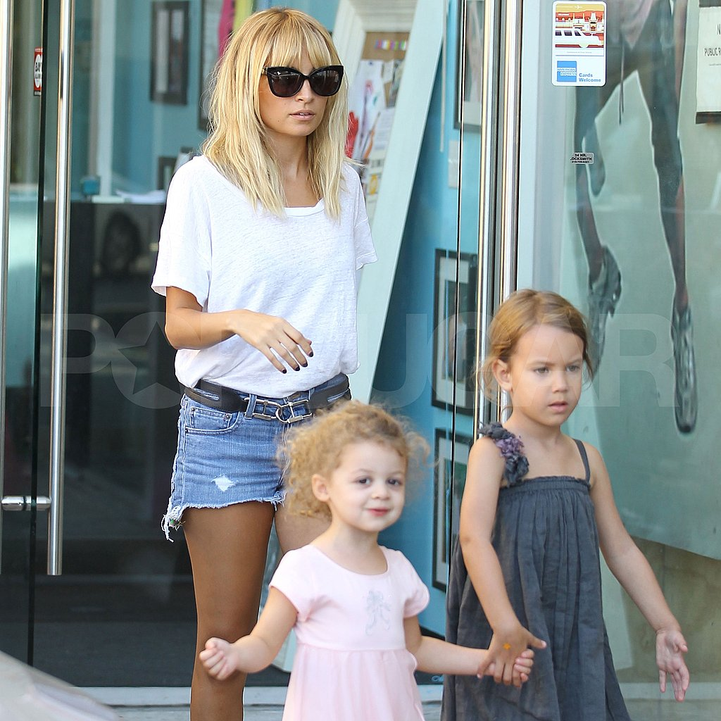 Nicole Richie took ballerina Harlow out for ice cream.