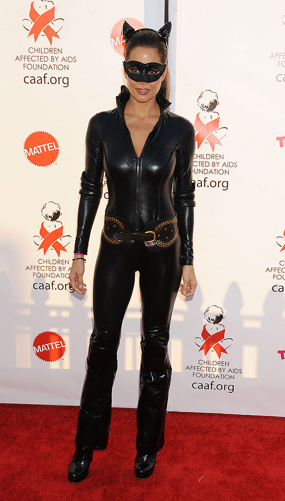 Brooke Burke wore a skintight catsuit at an LA celebration last year.