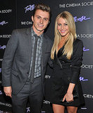 Julianne Hough and Kenny Wormald smiled for cameras at the premiere of Footloose in NYC.