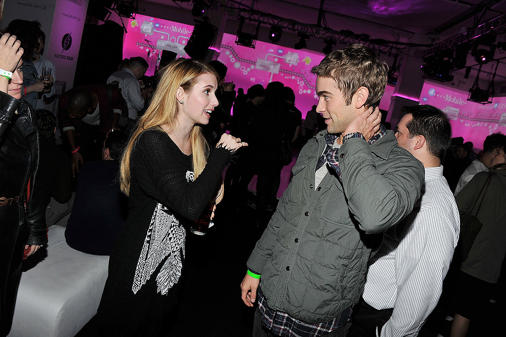 Emma and Chace chatted for a few moments.