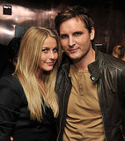 Julianne Hough and Peter Facinelli caught up at the Footloose afterparty.