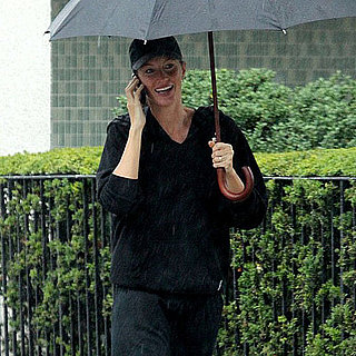 Gisele Bundchen in the Rain in Boston Pictures