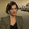 Milla Jovovich on 3 Musketeers Action Scenes &amp; Halloween