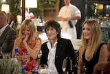 Sienna Miller at dinner with Ronnie Wood and Lily Donaldson.