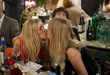 Sienna Miller and Lily Donaldson kissed.