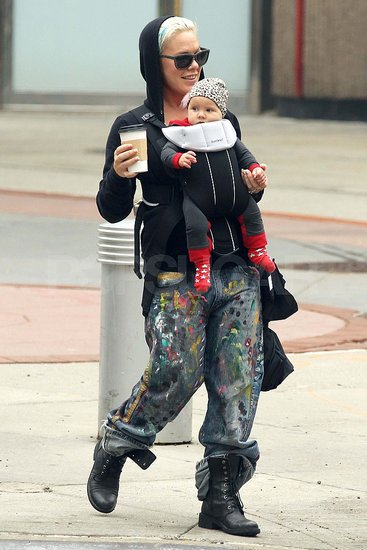 "Pink and Her ""Little Angel"" Take a Sweet Stroll Around the Streets of NYC"