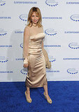 Rosanna Arquette wore a champagne gown to the soiree.