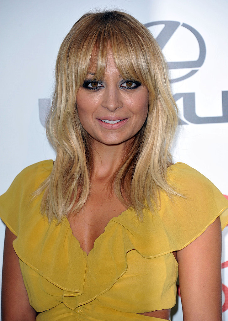 Nicole Richie wore her hair down for the event.