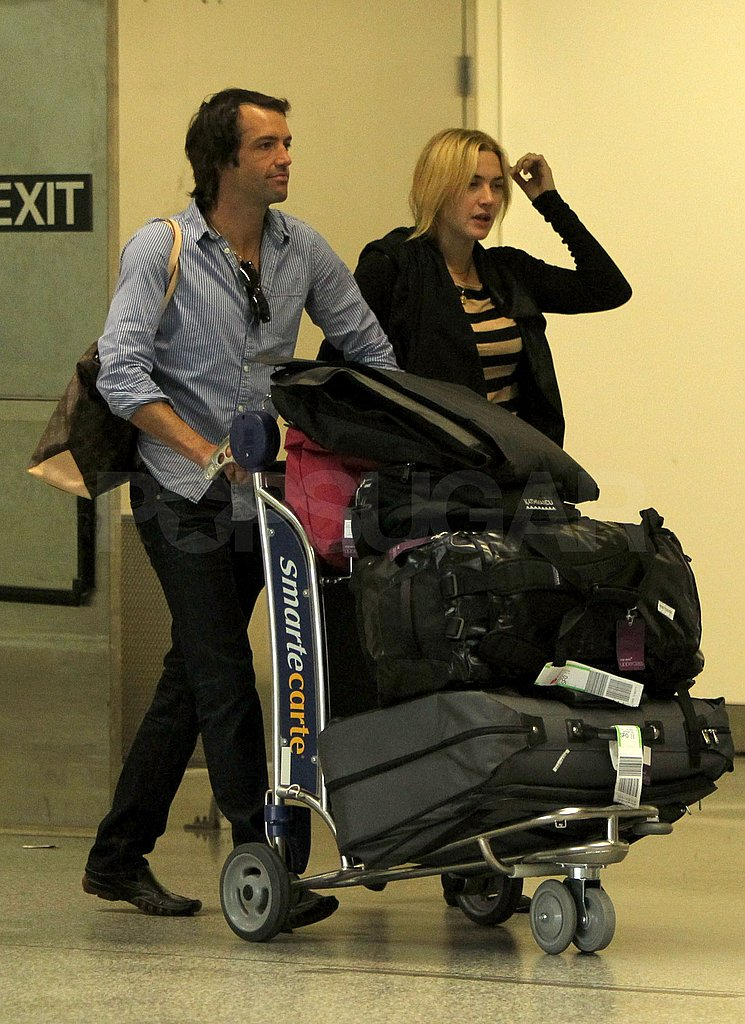 Kate and Ned may their way through SFO's Virgin America terminal.