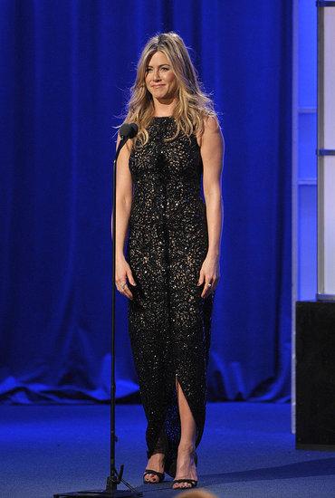 Jennifer Aniston wore her trademark color, black, to last night's event.