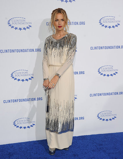 Rachel Zoe wore silver platforms with her glamorous dress.