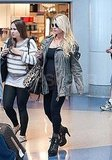 Jessica Simpson bump pictures at LAX.
