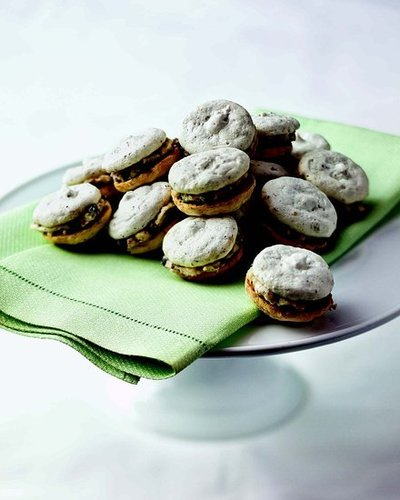 Hazelnut Meringues with Chocolate Chip Mascarpone