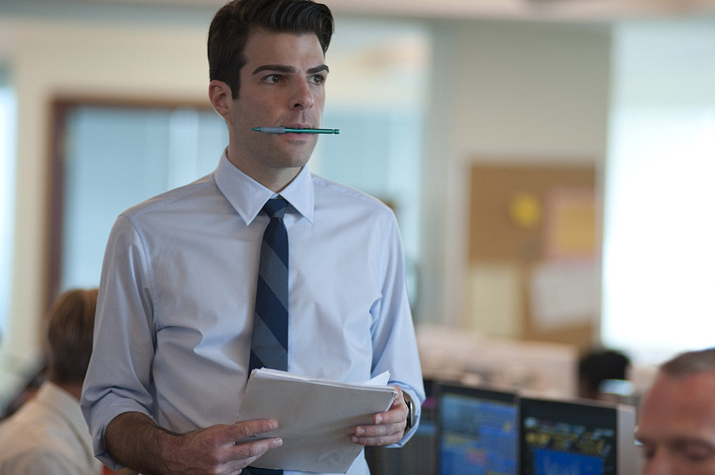 Zachary Quinto in Margin Call.  Photo courtesy of Roadside Attractions