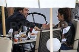Javier Bardem smiled at his wife Penelope Cruz and their son Leo Bardem.
