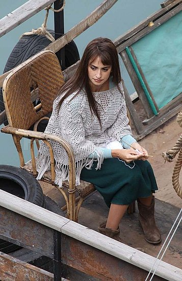Penelope Cruz on set in Rome.