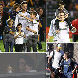 Victoria, Harper, and the Beckham Boys Watch David's Galaxy Win