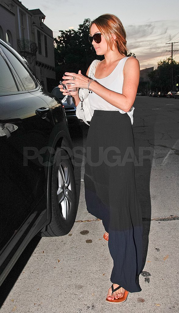 Lauren Conrad left the LA nail salon at sunset on Friday.