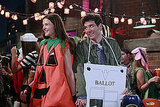 Katie Holmes as Naomi and Josh Radnor as Ted Mosby on How I Met Your Mother.  Photo courtesy of CBS