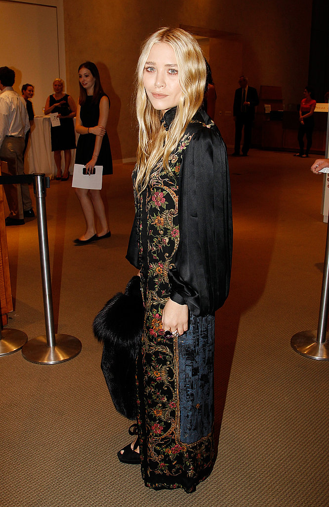 Mary-Kate Olsen attended an art party at Sotheby's.
