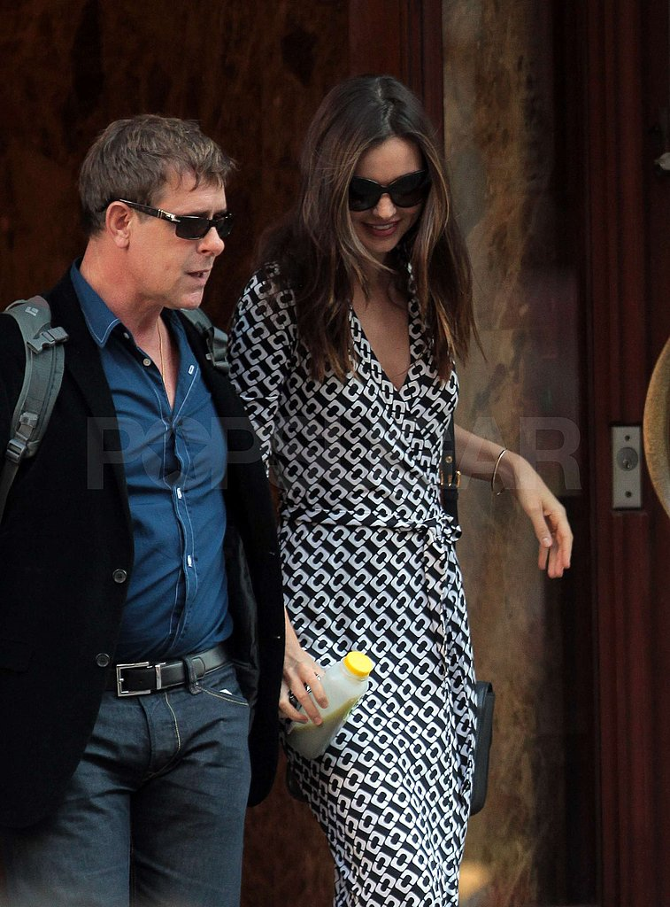 Miranda Kerr rocked a wrap dress.