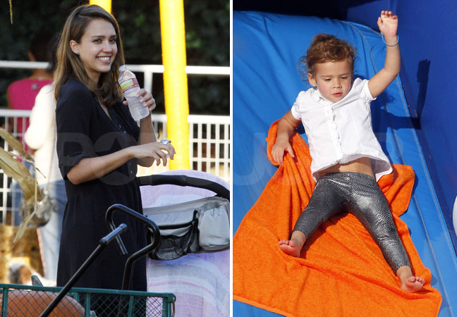 Jessica Alba, Honor, and Haven Head Back to the Pumpkin Patch For More Halloween Fun
