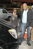 Beyoncé Knowles headed out in the Big Apple.
