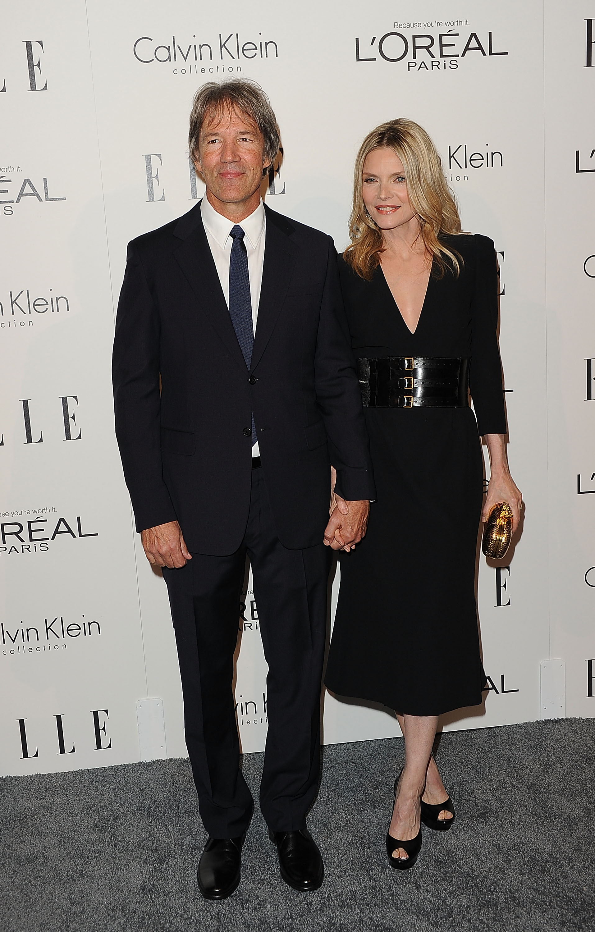 Michelle Pfeiffer walked down the red carpet with David Kelley.