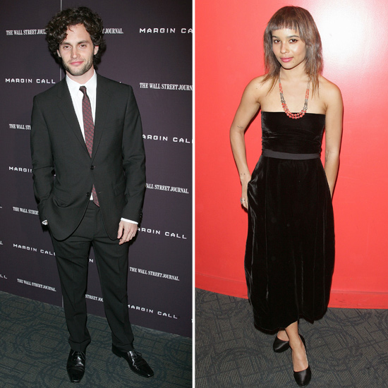Penn Badgley and Zoe Kravitz Keep Coy About Their Romance at His Margin Call Debut