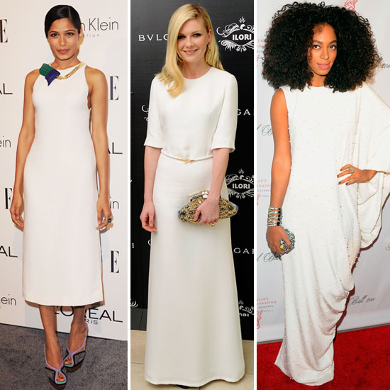 Trendspotting: Sublime White Evening Dresses
