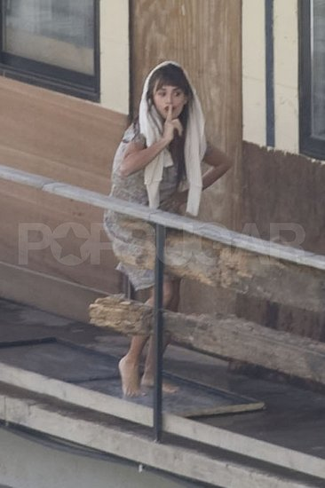 Penelope Cruz was playful on set.