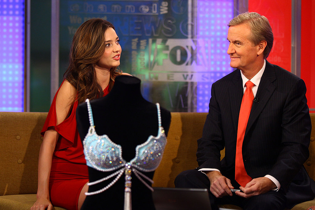 Miranda Kerr stopped by Fox & Friends.