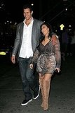 Kris Humphries put his hand on Kim Kardashian's shoulder.