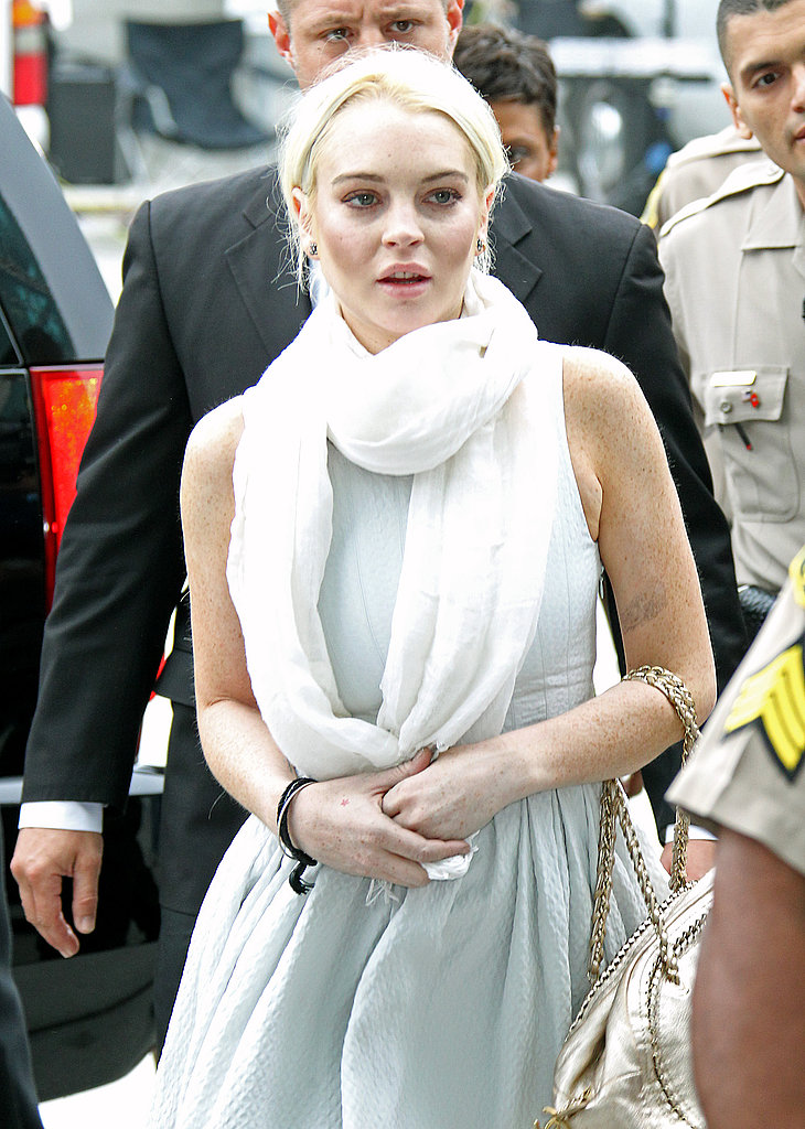 Lindsay Lohan made her way to an LA courthouse.