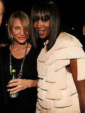 Naomi Campbell and Cameron Diaz posed at Studio 54.