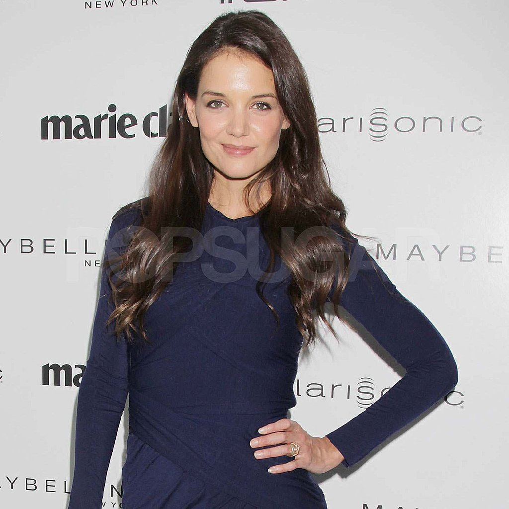Katie Holmes in navy at the Women on Top Awards in NYC.