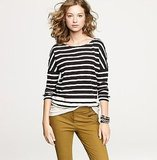 The foundation for a great preppy style starts with classic-cool stripes.   J.Crew Long-Stripe Boater Tee ($40)