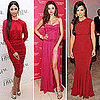 Celebs Show Up in Berry Sexy Dresses  Who Is Your Favorite?