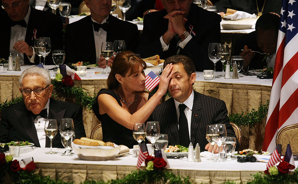 Carla checks up on Nicolas as he's honored for an award in NYC in 2008.