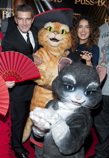 Salma Hayek and Antonio Banderas Get Silly at Their SF Premiere